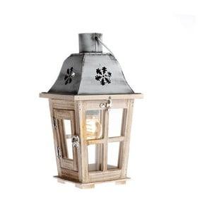 Lampion drewniany Dakls Snowflake