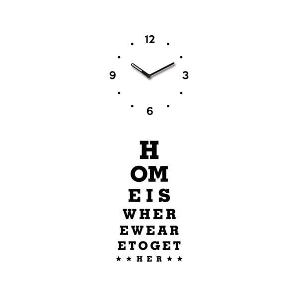 Zegar Home Is Clock, 20x60 cm