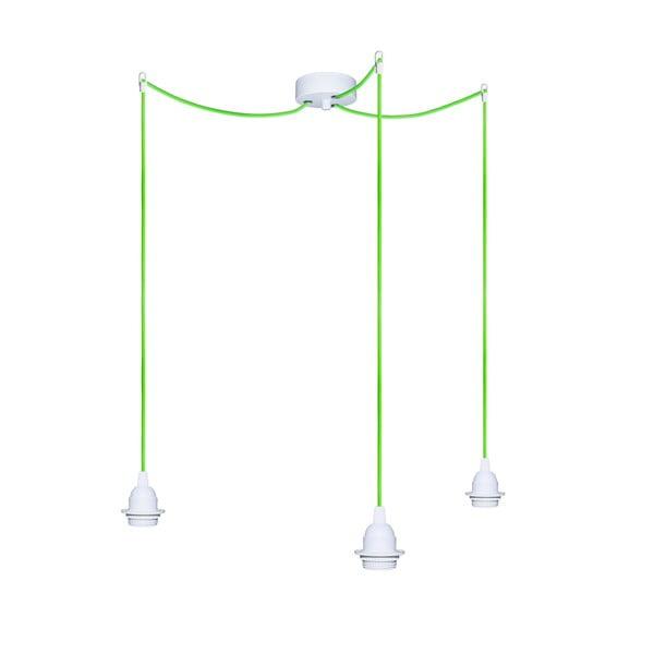 Trzy wiszące kable Uno+, zielony/biały