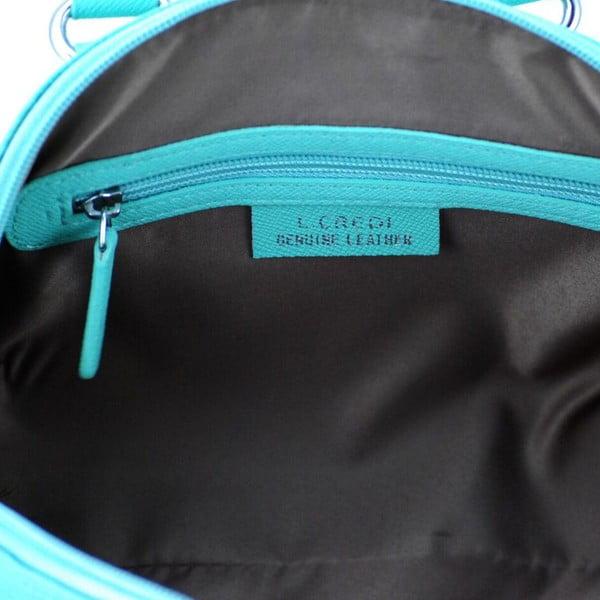 Skórzana torebka Paula Aqua