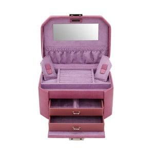 Szkatułka na biżuterię Candy Light Purple, 20,5x15x11,5 cm