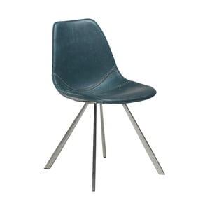 Niebieskie krzesło ze stalowymi nogami DAN–FORM Pitch