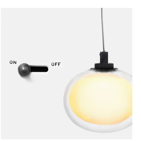 Lampa sufitowa Happy Pill Black/White, 16 cm