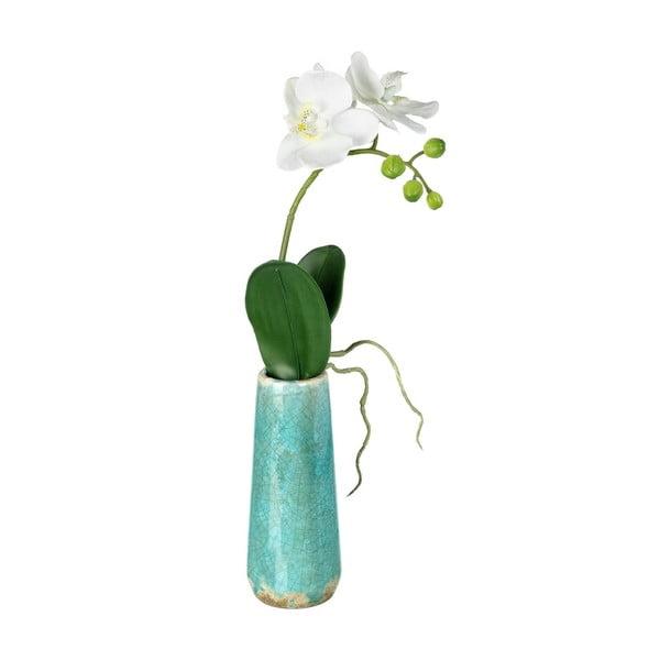 Sztuczny kwiat w wazonie Orchidea
