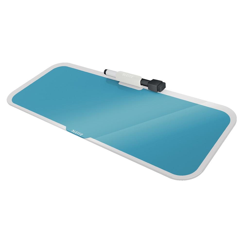 Niebieski szklany notatnik na biurko Leitz Cosy