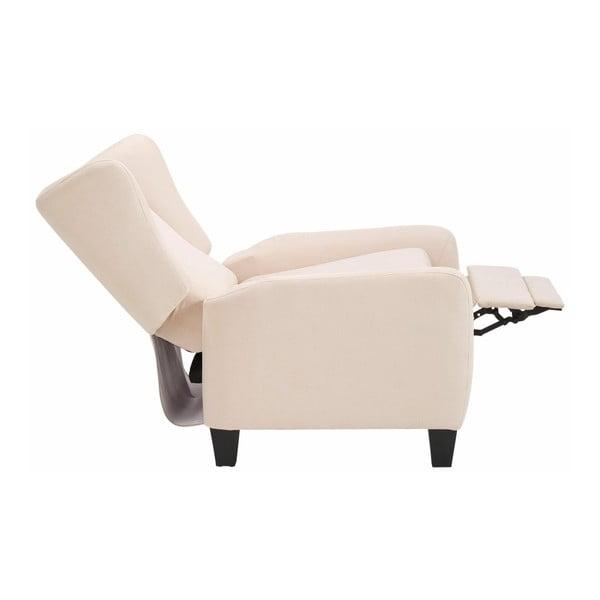 Kremowy fotel rozkładany Støraa Aladdin