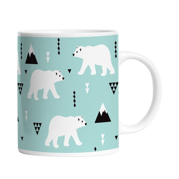 Ceramiczny kubek Polar Bears, 330 ml