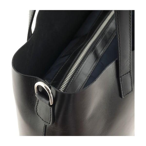 Skórzana torebka Italian Simplicity, czarna