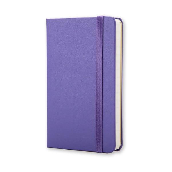 Fioletowy notatnik w linie  Moleskine XS