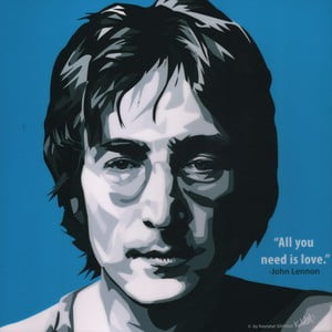 "Obraz ""John Lennon - All you need is love"""