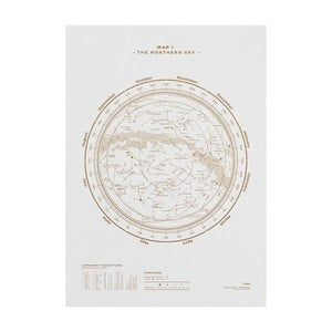 Plakat The Northern Sky Gold/White, 50x70 cm