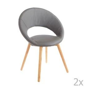 Zestaw 2 szarych krzeseł 13Casa Valencia