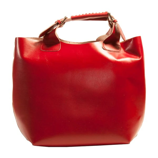 Czerwona torebka skórzana Andrea Cardone Edoardo
