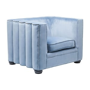Niebieski fotel Kare Design Wave