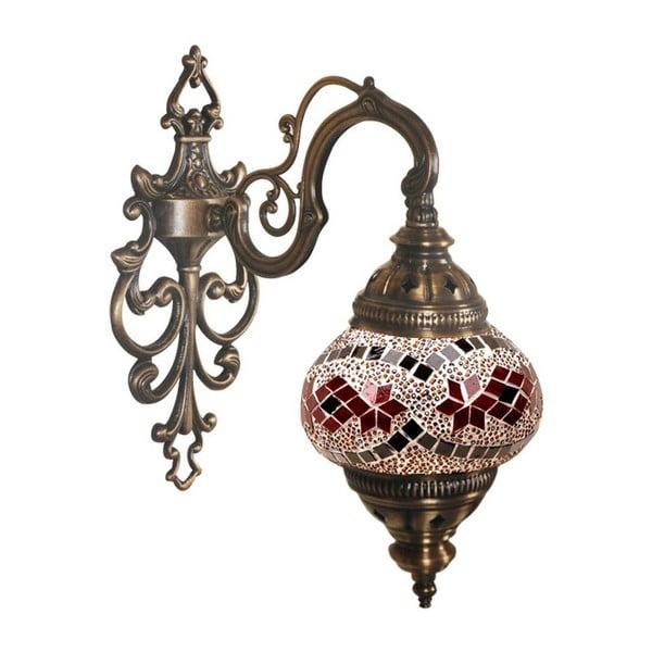 Szklana lampa naścienna Wall XXXI, 13 cm