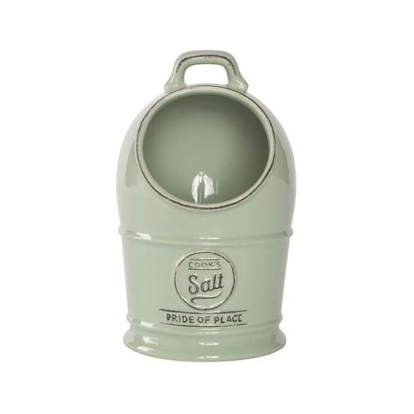 Zielony pojemnik porcelanowy na sól T&G Woodware Pride of Place Old