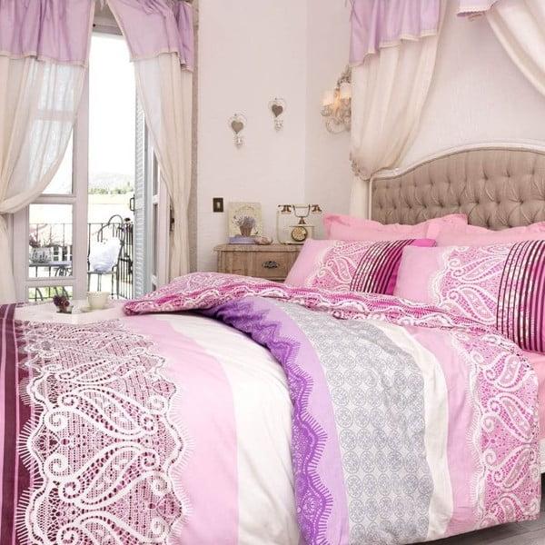 Zestaw pościeli Shine Pink, 240x220 cm