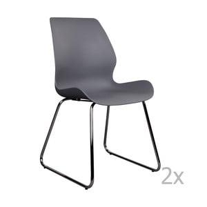 Zestaw 2 szarych krzeseł House Nordic Sola