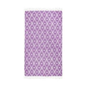 Fioletowy ręcznik hammam Kate Louise Calypso, 165x100 cm