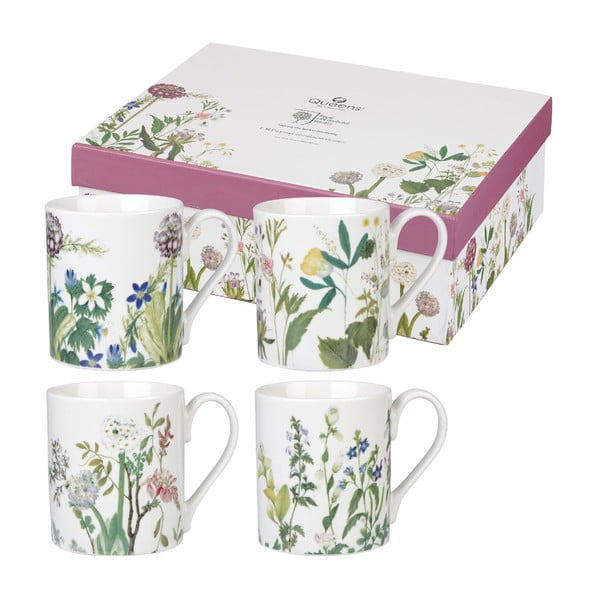 Zestaw 4 kubków z porcelany Churchill China Himalyan Flowers, 250 ml