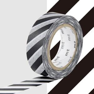 Czarno-biała taśma dekoracyjna washi MT Masking Tape Stripes
