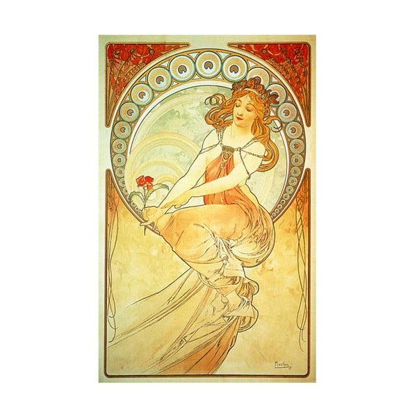 "Obraz ""La Peintire"" (Alfons Mucha), 30x50 cm"