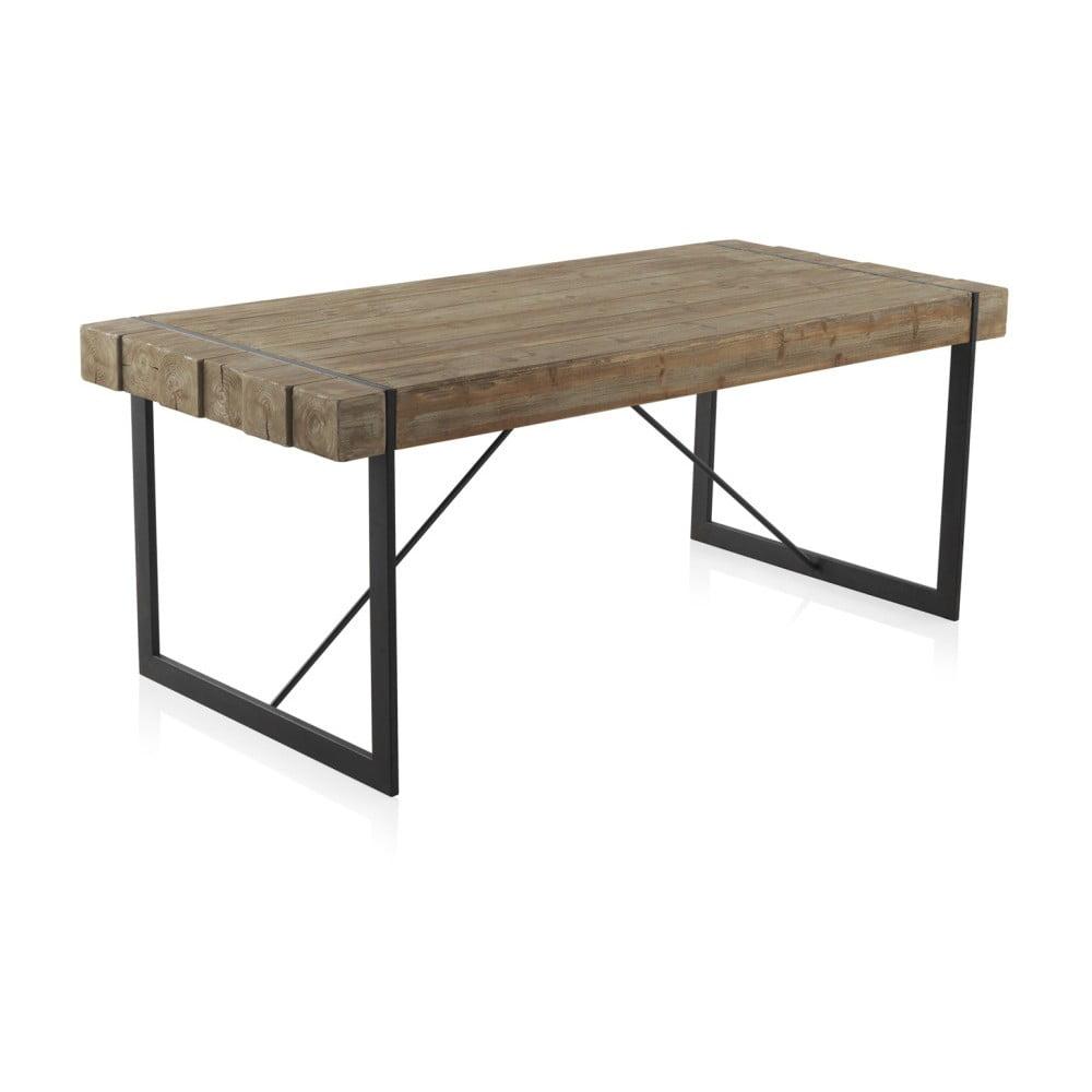 Drewniany stół z metalowymi nogami Geese Robust, 200x90 cm