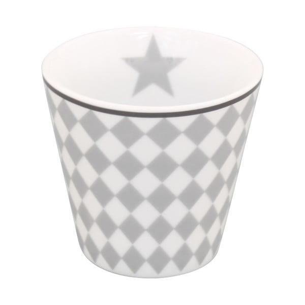 Kubeczek do kawy Krasilnikoff Espresso Light Grey Harlekin