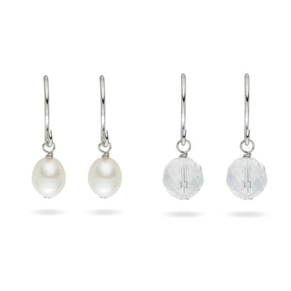 Kolczyki Yamato Pearls Sterling Silver Glass