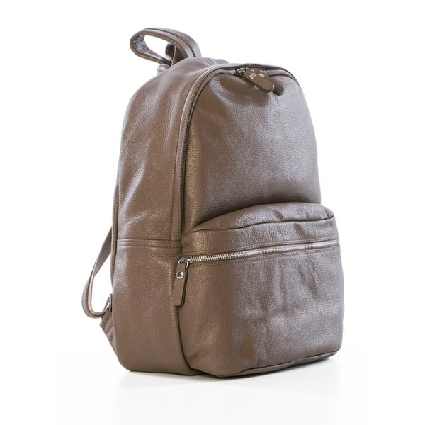 Brązowy skórzany plecak Federica Bassi Algol