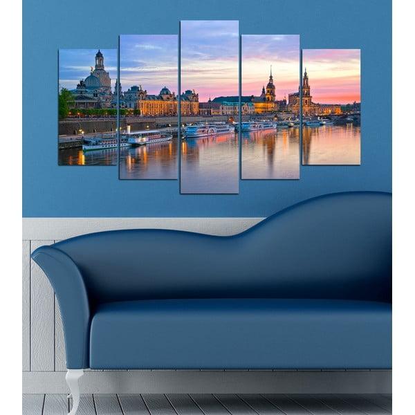 5-częściowy obraz Nad rzeką