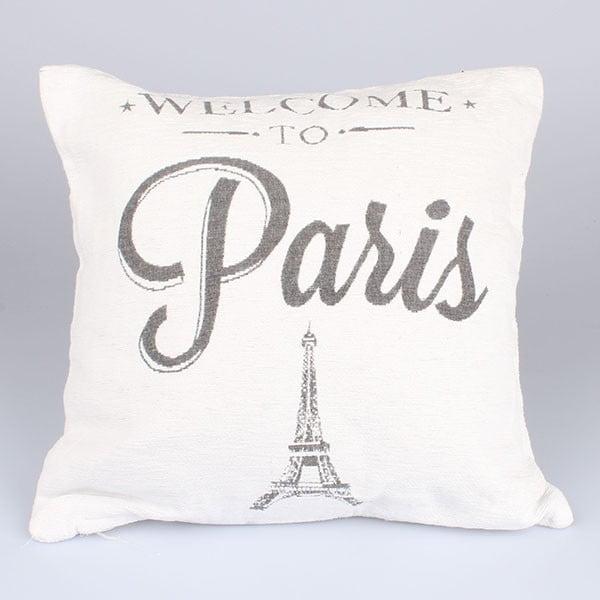 Poszewka na poduszkę Paris in White, 40x40 cm