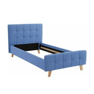 Niebieskie łóżko jednoosobowe Støraa Limbo, 100x200cm
