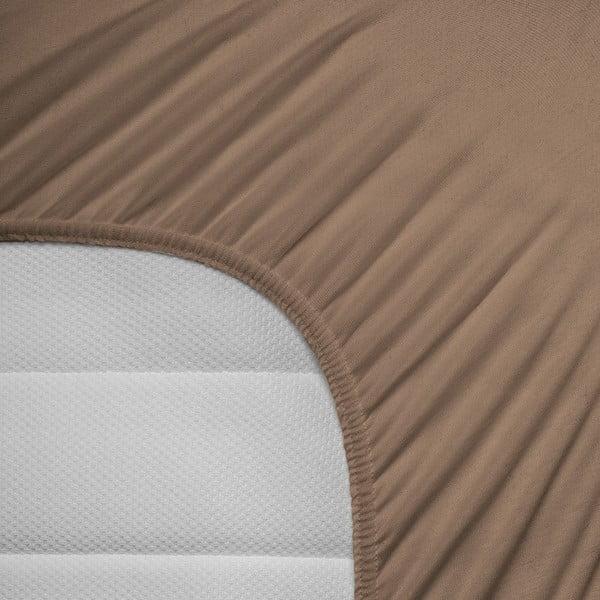 Prześcieradło elastyczne Hoeslaken 80-100x200 cm, brązowe