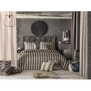 Pikowana narzuta i 2 poszewki  na poduszkę Apolena Luxury, brązowy