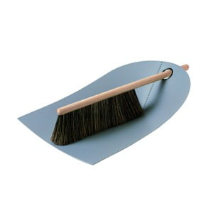 Zmiotka i szczotka z naturalnym włosiem Broom, jasnoszara