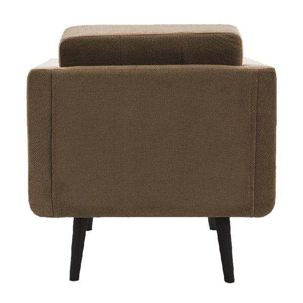 Jasnobrązowy fotel VIVONITA Sondero, czarne nogi