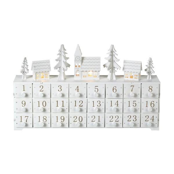 Kalendarz adwentowy ze światełkami LED Parlane, wys. 24 cm