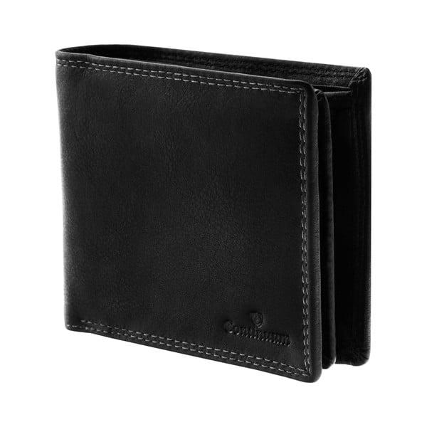 Skórzany portfel Continuum 1518, podwójne szycie