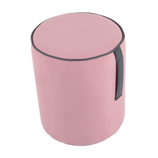 Okrągły puf Pois, różowy