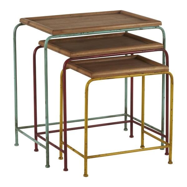 Zestaw 3 stołków Athezza Gigogne Olivia