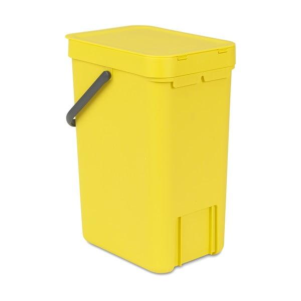 Kosz Sort & Go 12 l, żółty