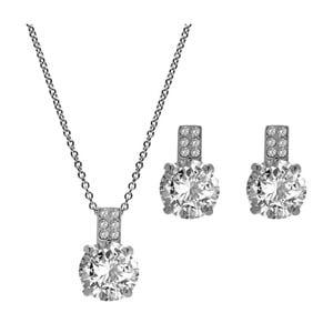 Komplet naszyjnika i kolczyków z kryształami Swarovski® GemSeller White