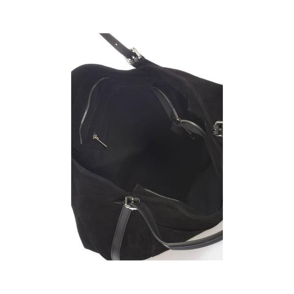 Skórzana torebka Krole Karin, czarna