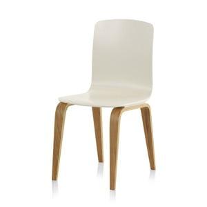 Białe krzesło Geese