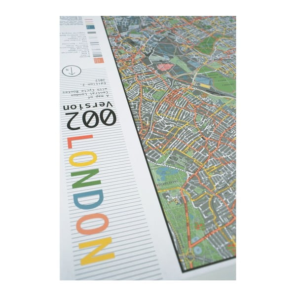 Mapa Londynu The Future Mapping Company Street Map, 130x100 cm