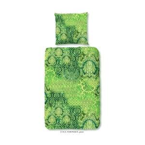 Pościel jednoosobowa z satyny bawełnianej Muller Textiels Neon Nature, 140x200 cm