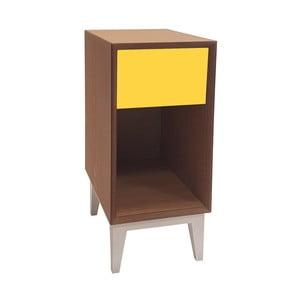 Mała szafka nocna z żółtą szufladą Ragaba PIX