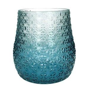 Niebiesko-biały wazon szklany HF Living, 28 cm