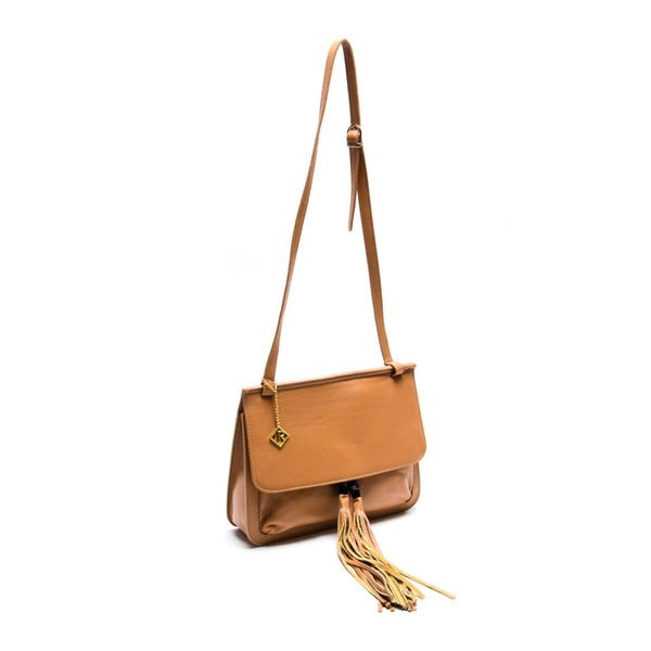 Skórzana torebka Isabella Rhea 1154 Cognac